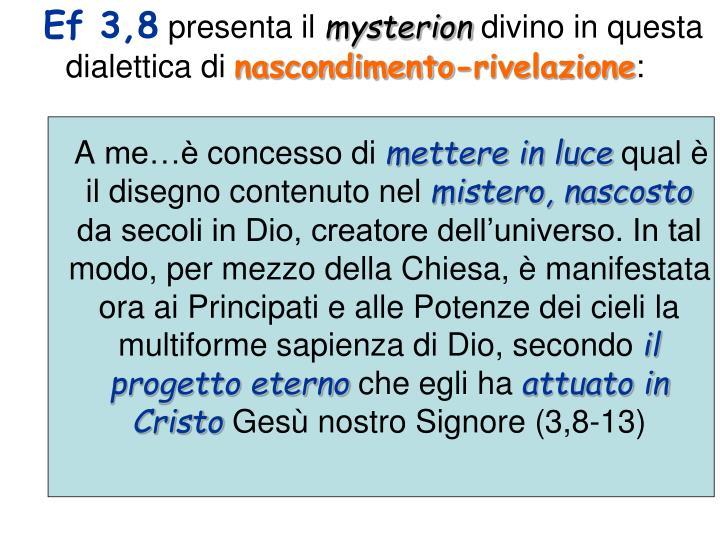 Ef 3,8