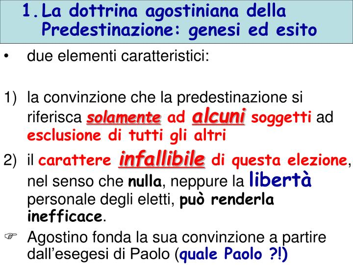La dottrina agostiniana della Predestinazione: genesi ed esito