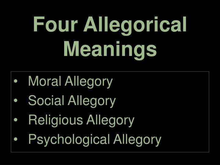 Four allegorical meanings