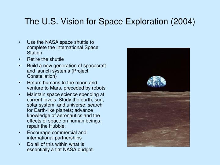 The U.S. Vision for Space Exploration (2004)