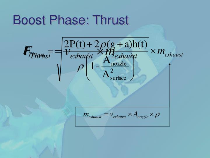 Boost Phase: Thrust