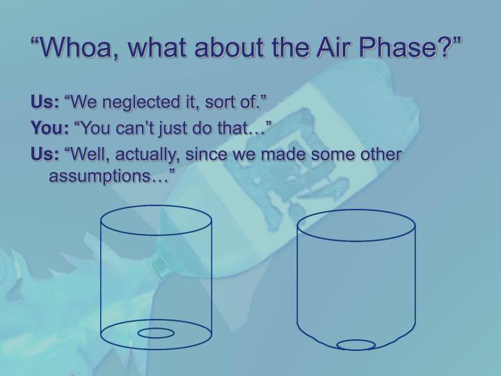 """Whoa, what about the Air Phase?"""
