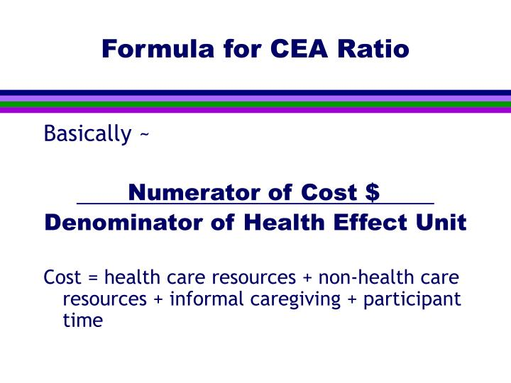 Formula for CEA Ratio