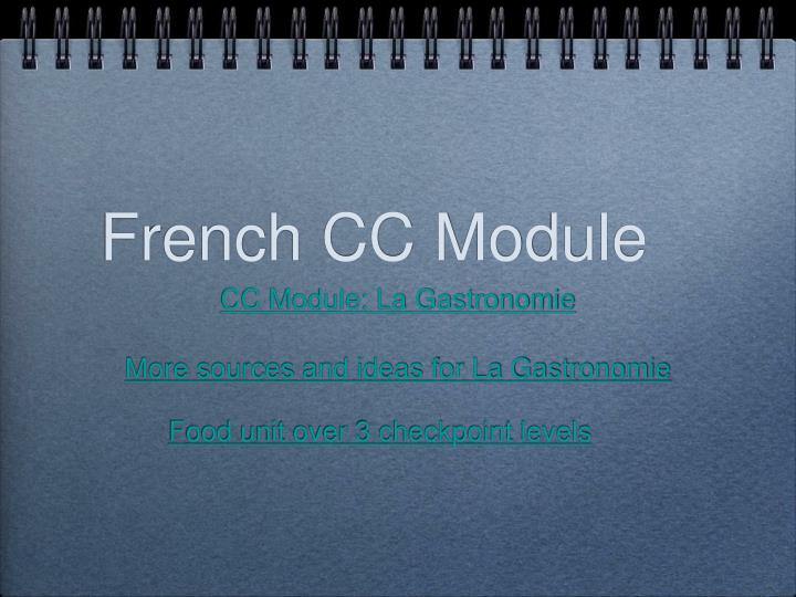 French CC Module