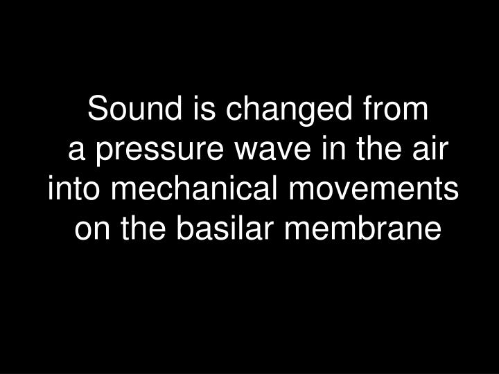 Sound is changed from