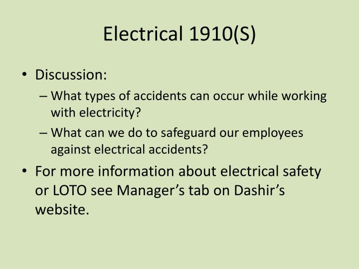 Electrical 1910(S)