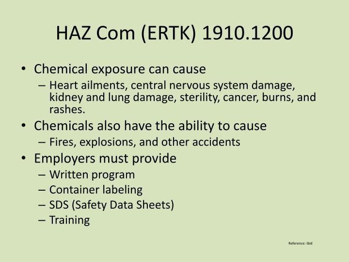 HAZ Com (ERTK) 1910.1200