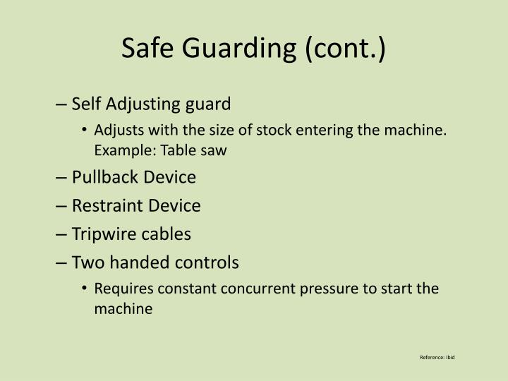 Safe Guarding (cont.)