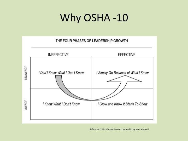 Why OSHA -10