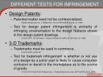 different tests for infringement