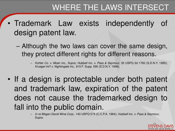 Trademark Law exists independently of design patent law.