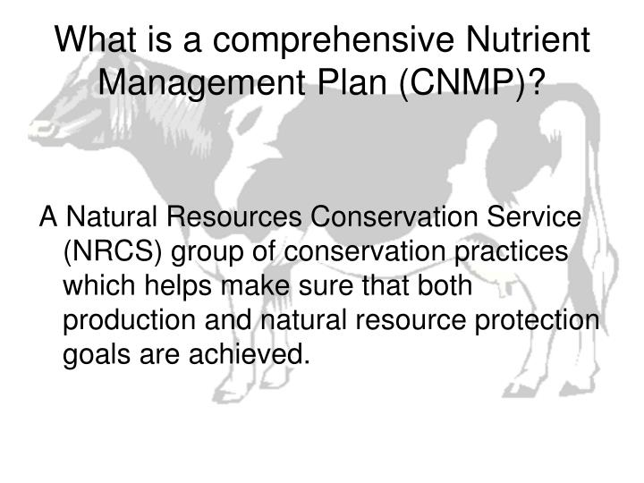 What is a comprehensive Nutrient Management Plan (CNMP)?