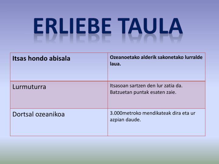 ERLIEBE TAULA