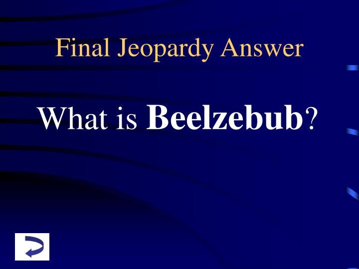 Jeopardy PowerPoint  Elaine Fitzgerald