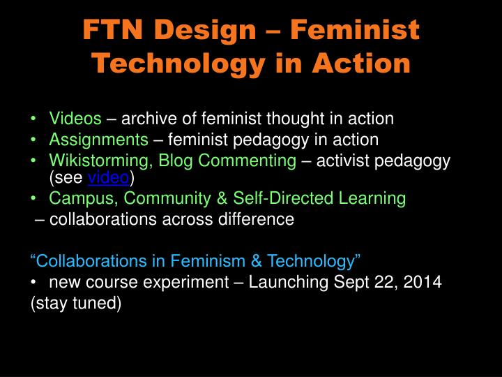 FTN Design – Feminist Technology in Action