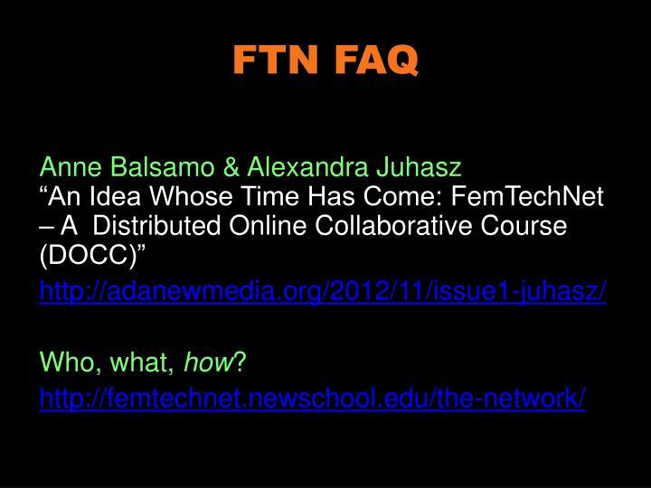 FTN FAQ
