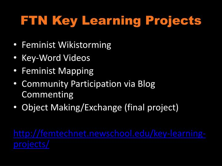 FTN Key Learning Projects