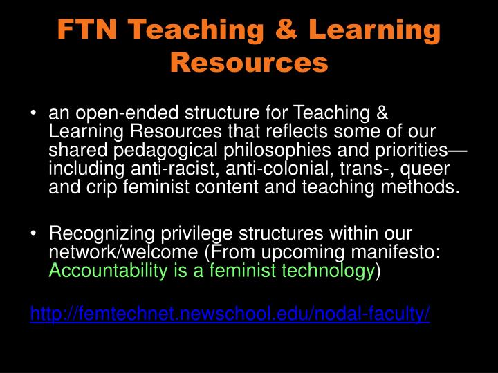 FTN Teaching & Learning Resources