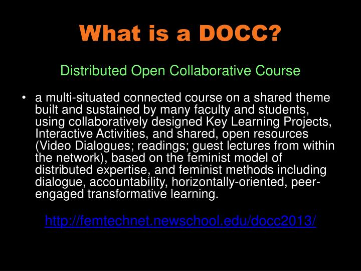 What is a DOCC?