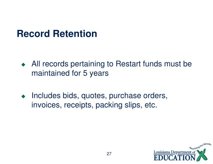 Record Retention
