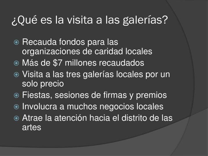 ¿Qué es la visita a las galerías?