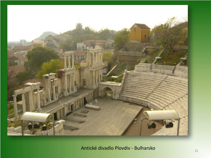 Antické divadlo Plovdiv - Bulharsko
