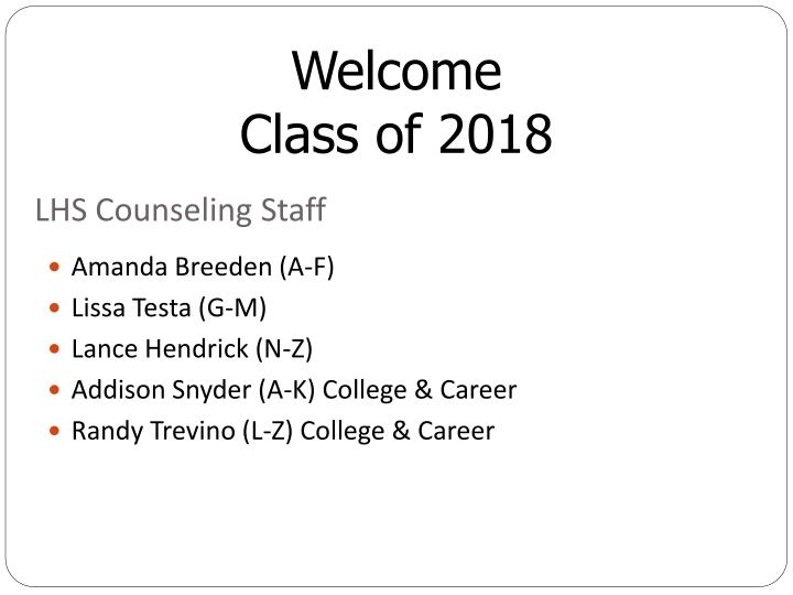 Lhs counseling staff