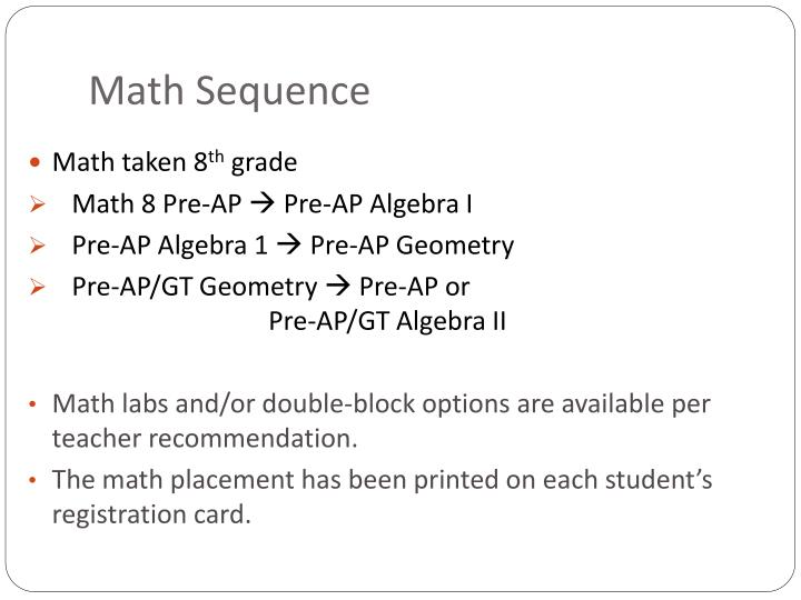 Math Sequence