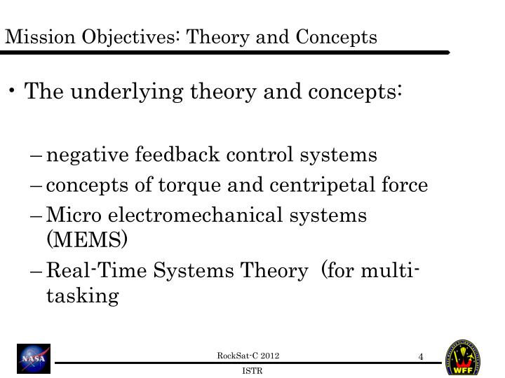 Mission Objectives: Theory and Concepts