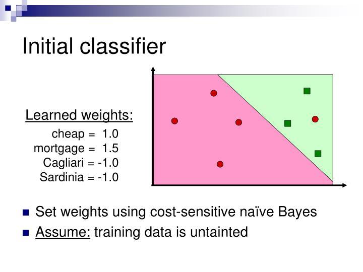 Initial classifier