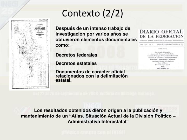Contexto (2/2)