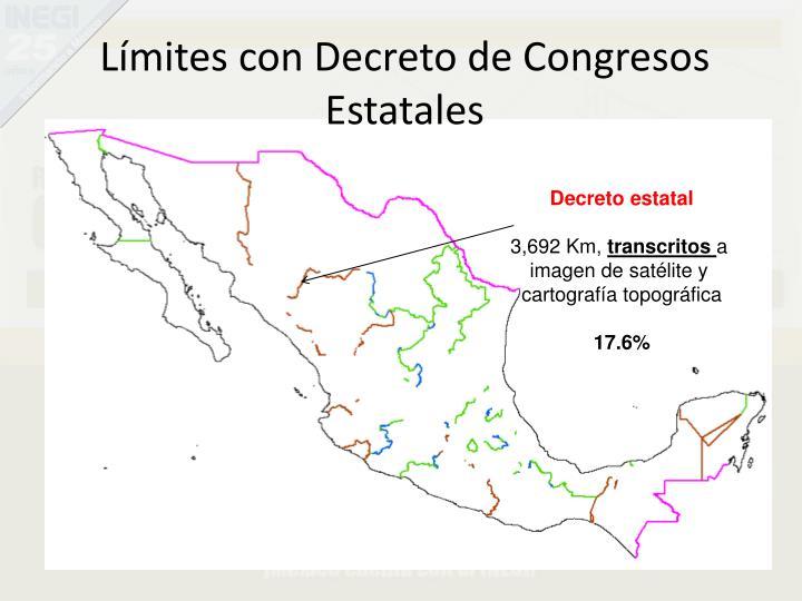 Límites con Decreto de Congresos Estatales