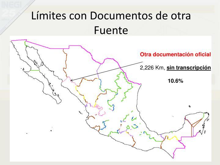 Límites con Documentos de otra Fuente