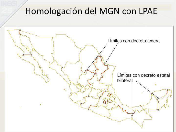 Homologación del MGN con LPAE