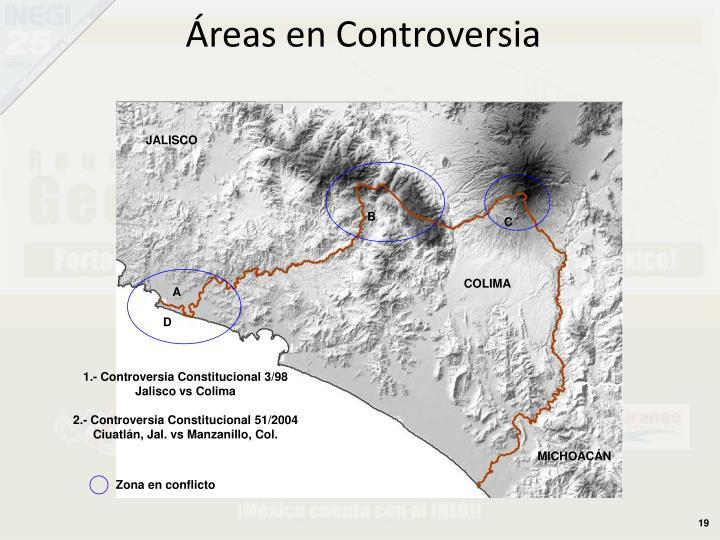 Áreas en Controversia