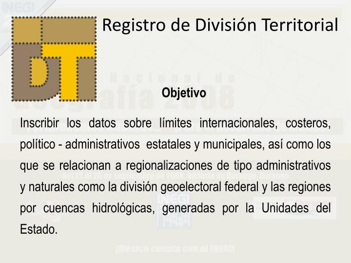 Registro de División Territorial