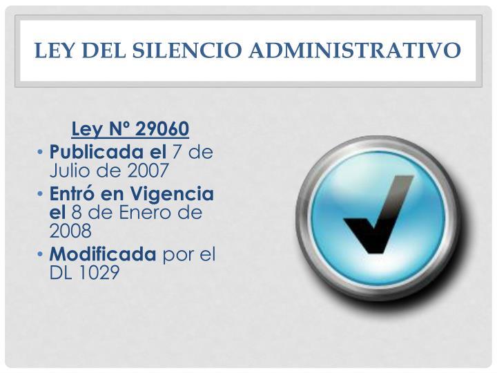 Ley del Silencio Administrativo