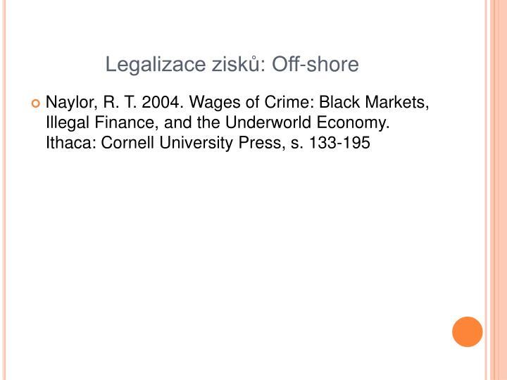 Legalizace zisků: Off-shore