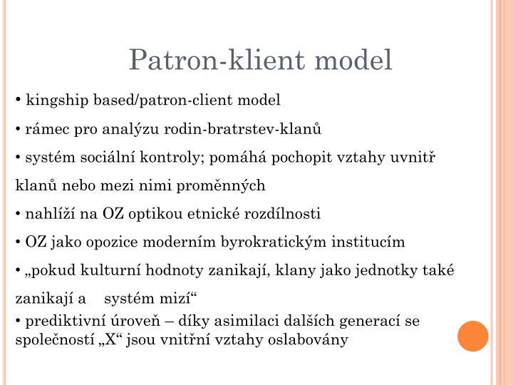 Patron-klient model