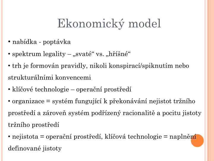 Ekonomický model