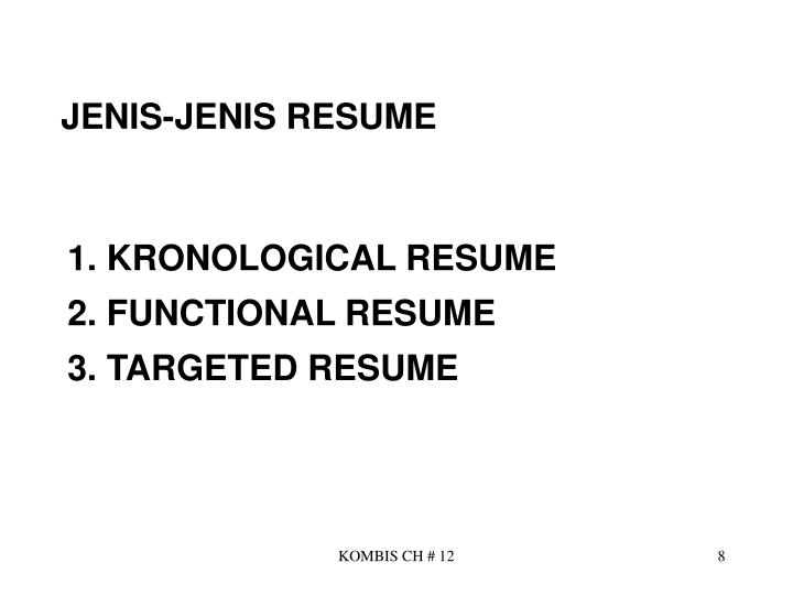 JENIS-JENIS RESUME
