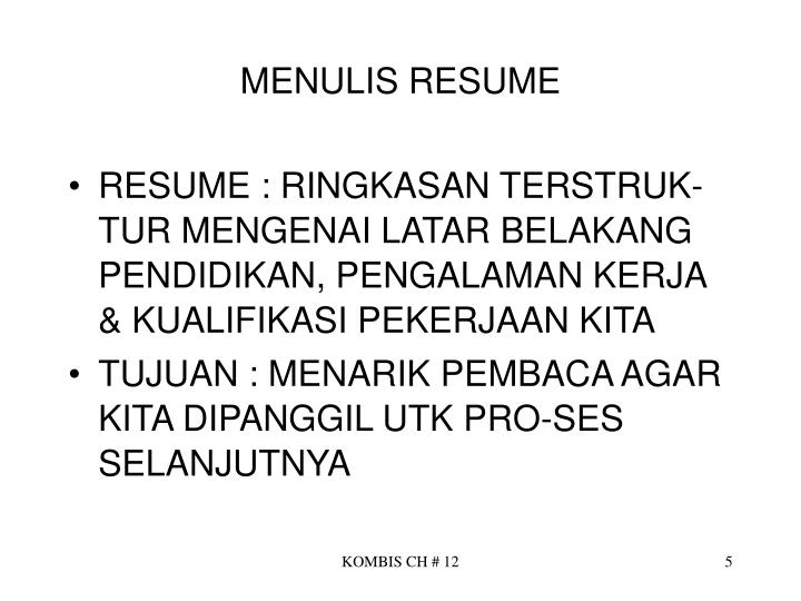 MENULIS RESUME