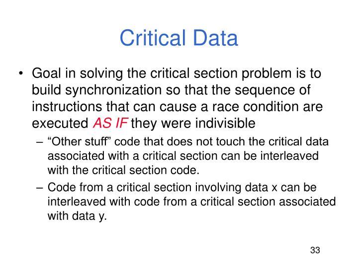 Critical Data