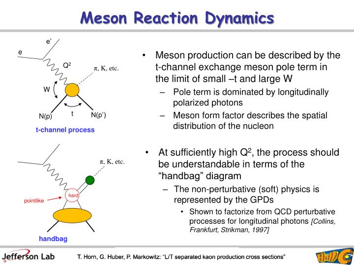 Meson reaction dynamics