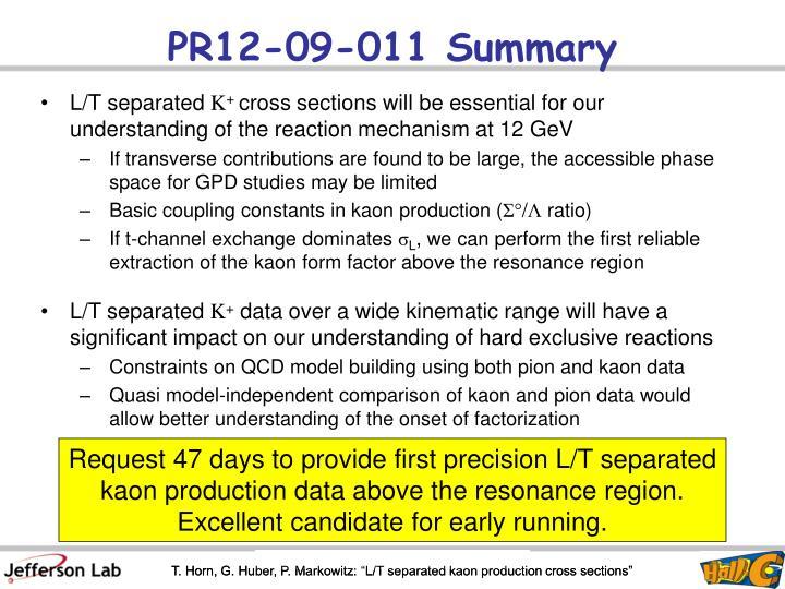PR12-09-011 Summary