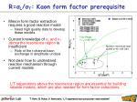 r l t kaon form factor prerequisite