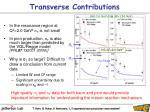transverse contributions