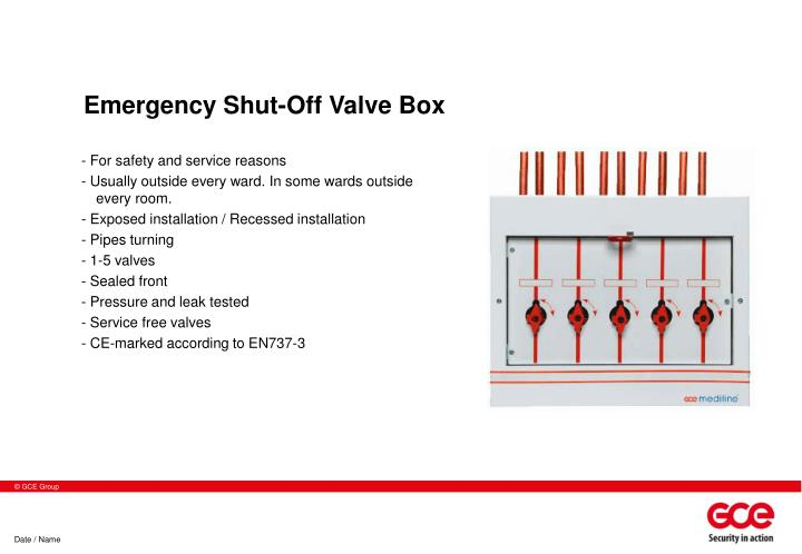 Emergency Shut-Off Valve Box