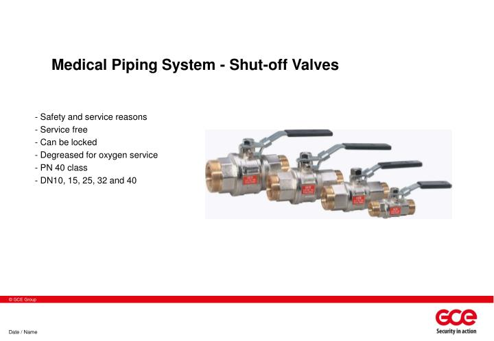 Medical Piping System