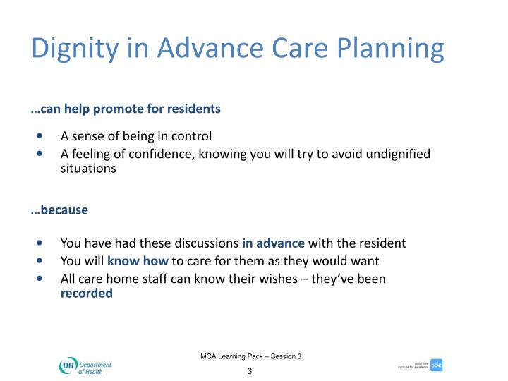 Dignity in Advance Care Planning